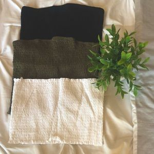 3 CROP TOPS FROM GARAGE BRAND NEW WITH TAGS! 💛